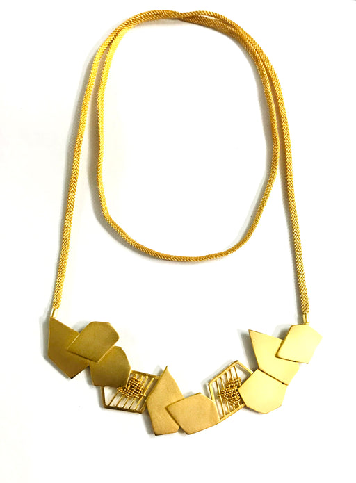 Necklace Contemporary Golden-Accessories-ITRANA-6degree.store