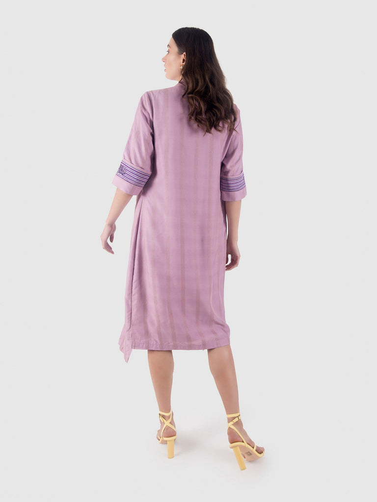 Lavender blazer dress-Western Wear-LEELA BY A-6degree.store