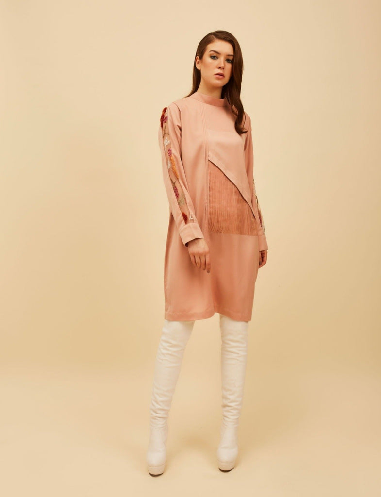 Dirty Pink paneled Dress-Dress-FEB O SIX-6degree.store