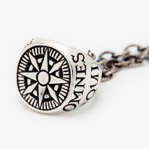 Compass Signet Necklace