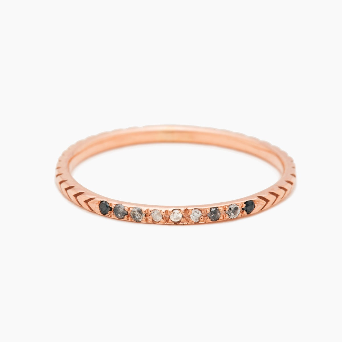 Gradient Petite Pave Arrows Ring