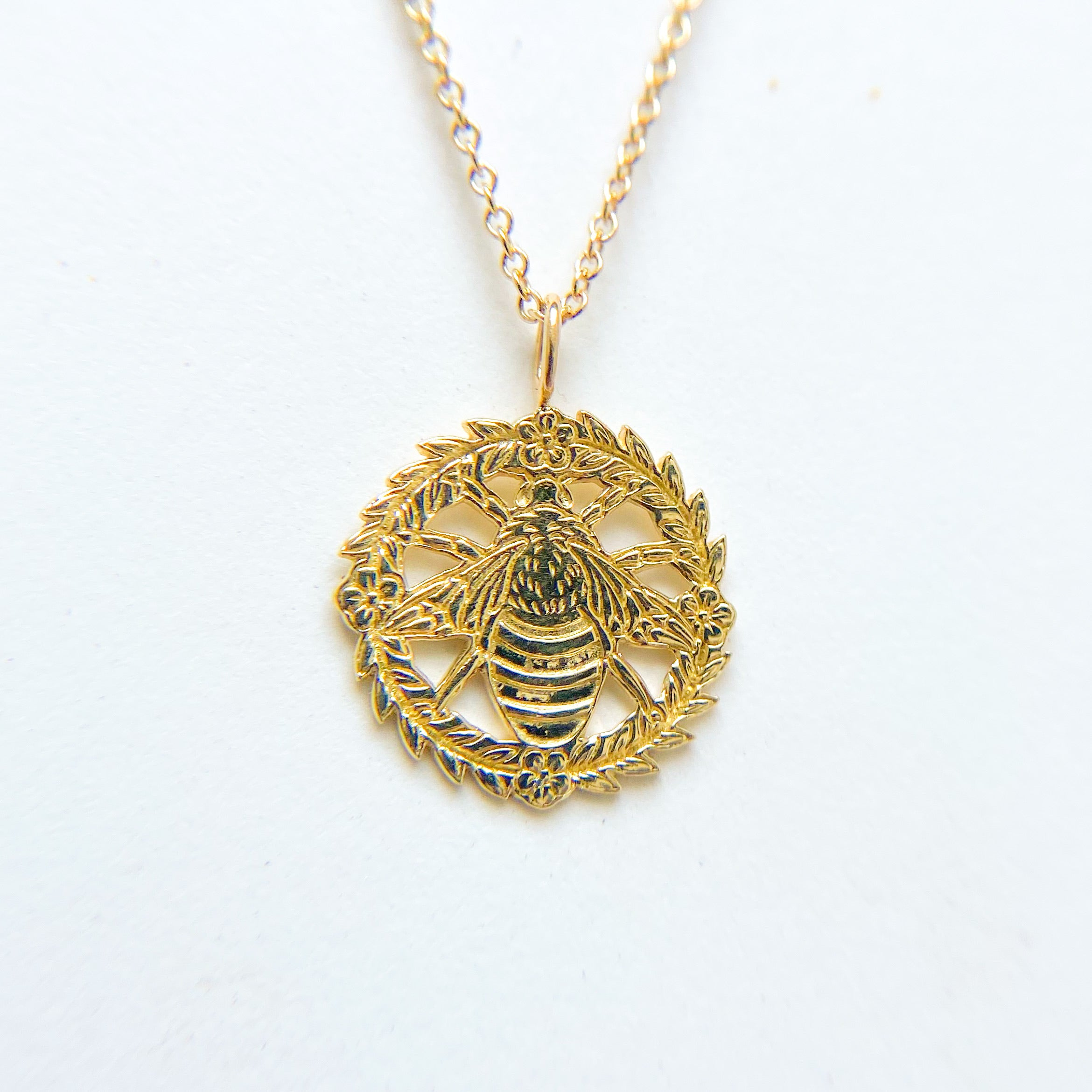 Bee Wreath Necklace