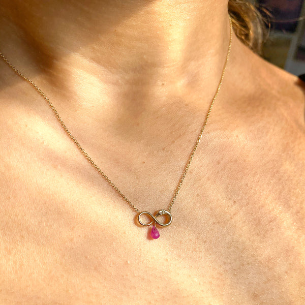Ruby Petite Nagini Necklace