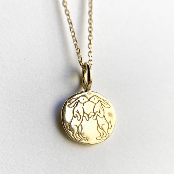 Kissing Rabbits Necklace