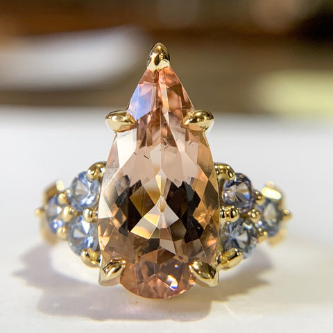 3.55ct Pear Morganite Nico
