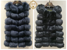 Laden Sie das Bild in den Galerie-Viewer, Pelzweste - Einheit - 2018 2019 Fashion Fur London Parka-Lang-Grun 639.00 Jolie Fur Fashion