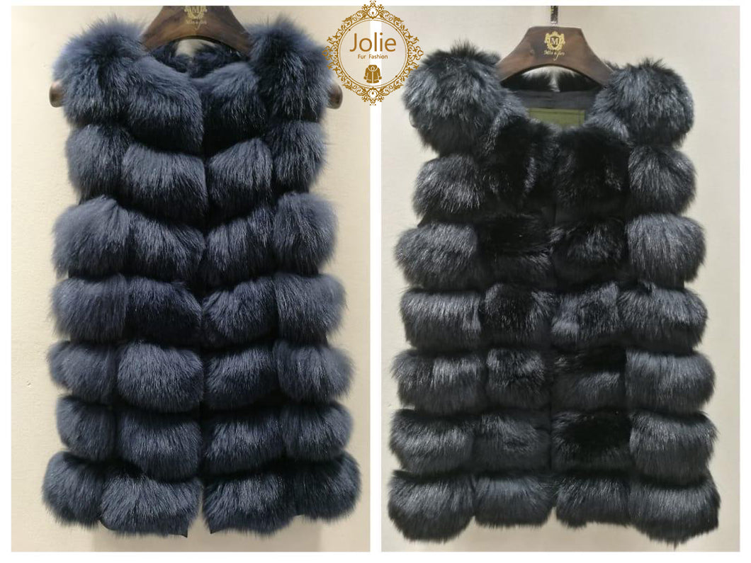 Pelzweste - Einheit - 2018 2019 Fashion Fur London Parka-Lang-Grun 639.00 Jolie Fur Fashion