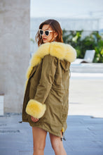 Laden Sie das Bild in den Galerie-Viewer, Pelz Parka Gelb/grün - 2018 2019 Dtg Fashion Fur Pelz-Parka-Gelb-Grun 699.00 Jolie Fur Fashion