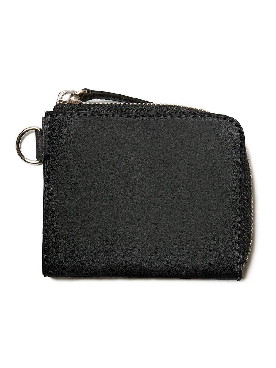 Graphic Print Leather Wallet BLK