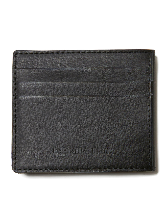 Logo Leather Wallet BLK