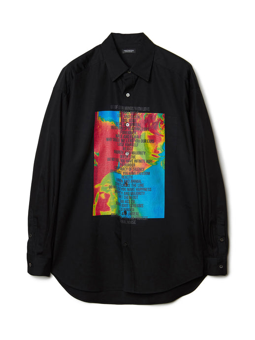 Graphic Print Shirt BLK