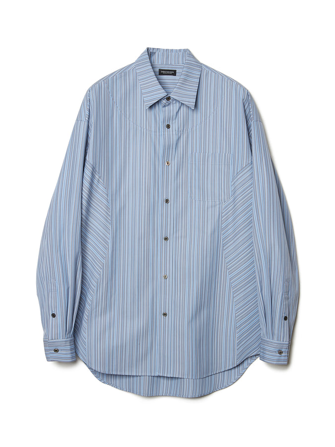 Paneled Stripe Shirt BLU