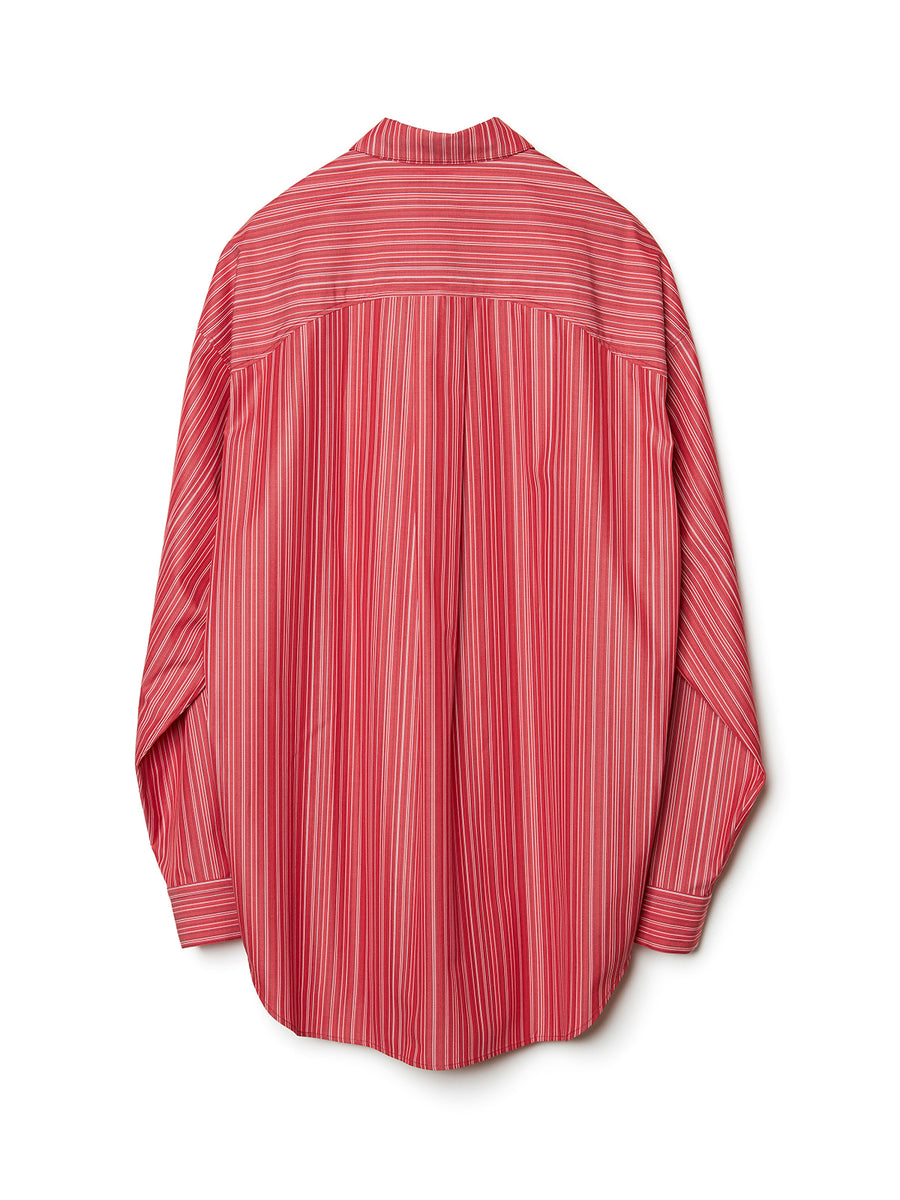 Paneled Stripe Shirt RED