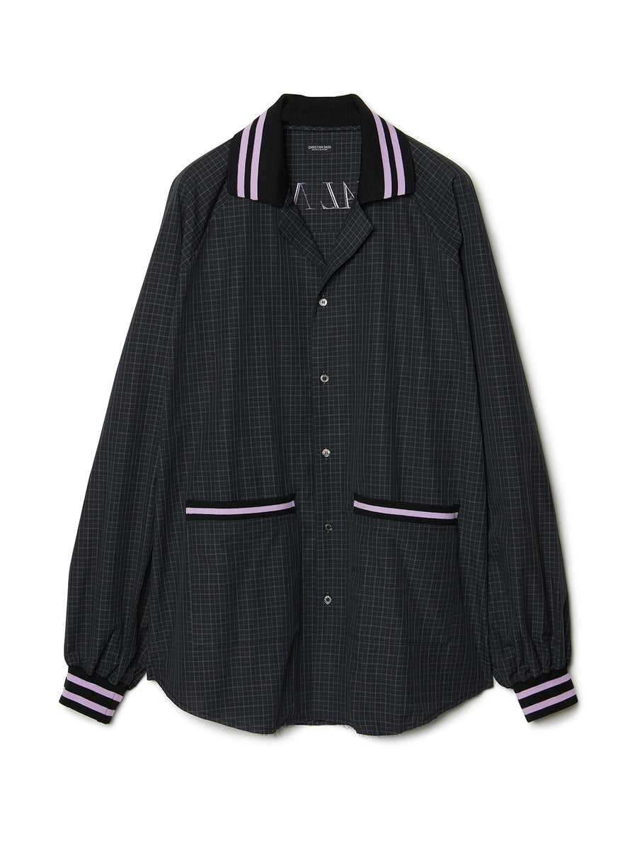 Oversized Checked Shirt BLK