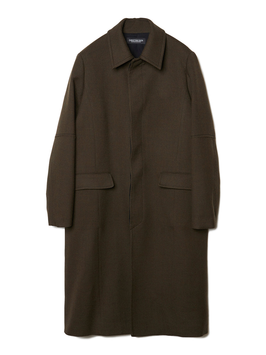 Pico Embroidery Wool Overcoat OLV
