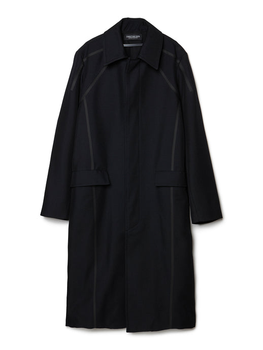 Taped Overcoat BLK