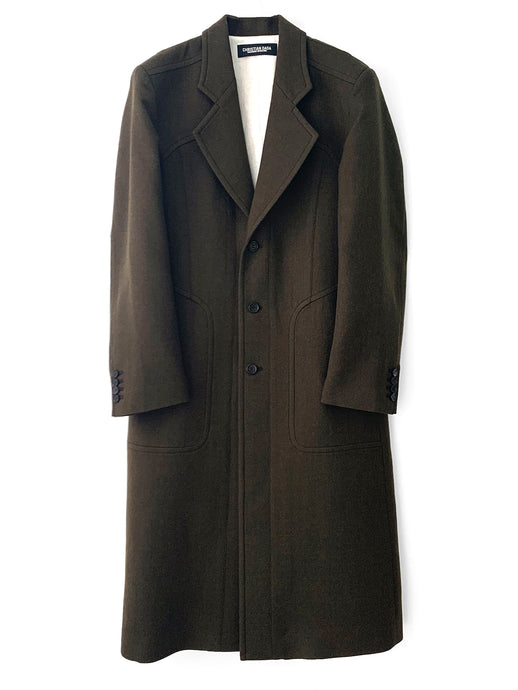 Paneled Tailored Wool Coat OLV