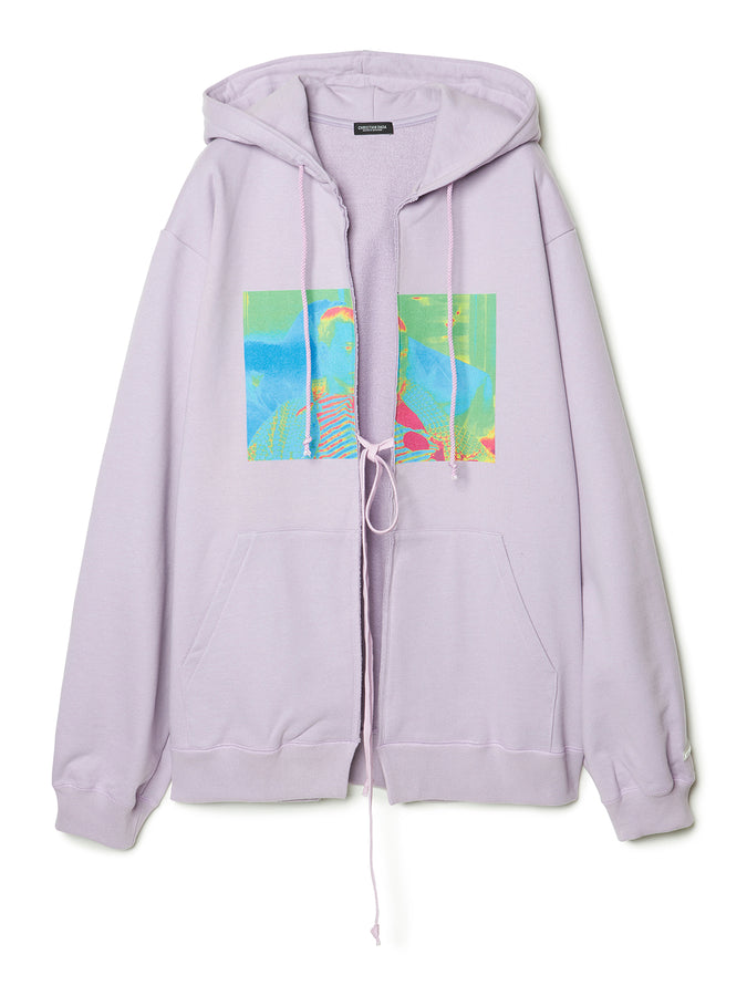 Graphic Print Oversized Hoodie LAV