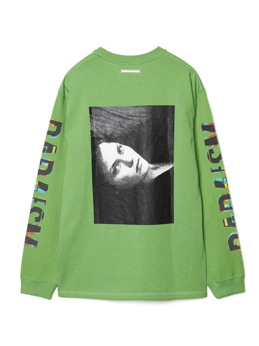 Graphic Print Long Sleeve Pocket T-shirt LIM