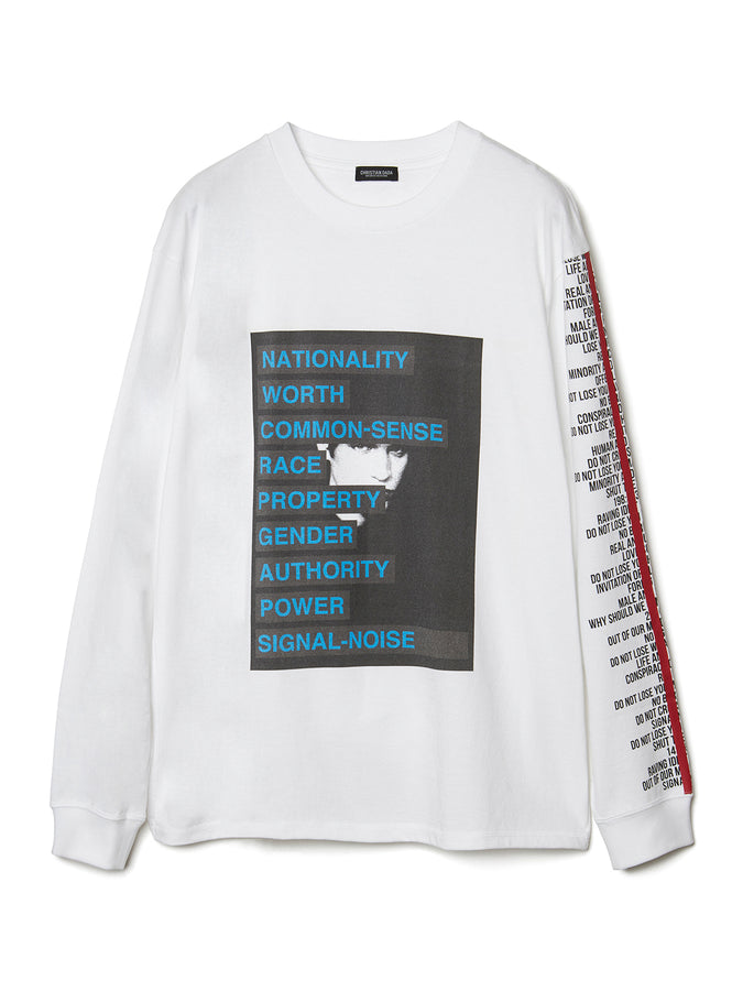 Graphic Print Long Sleeve T-shirt WHT
