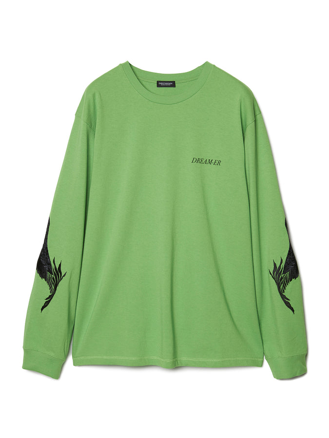 Feather Embroidery Long Sleeve T-shirt LIM