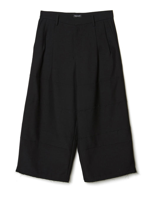 Tiered Cropped Trousers BLK