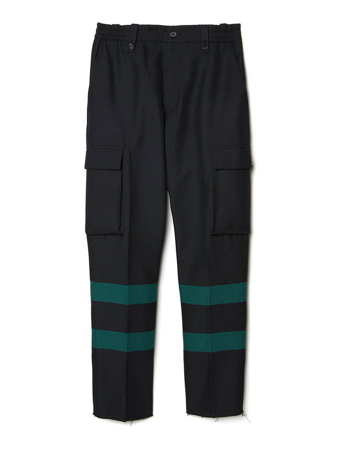 Paneled Cargo Trousers BLK