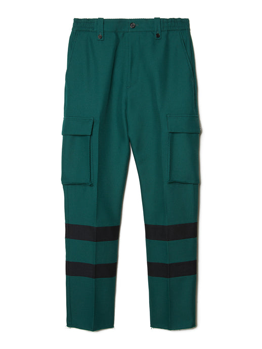 Paneled Cargo Trousers GRN