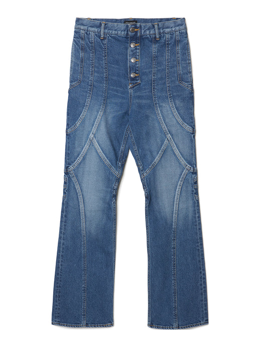 Paneled Bootcut Denim Trousers IDG