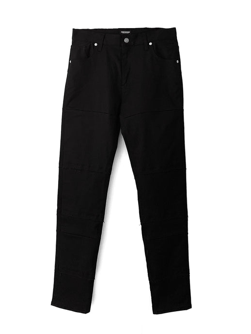 Tiered Skinny Trousers BLK