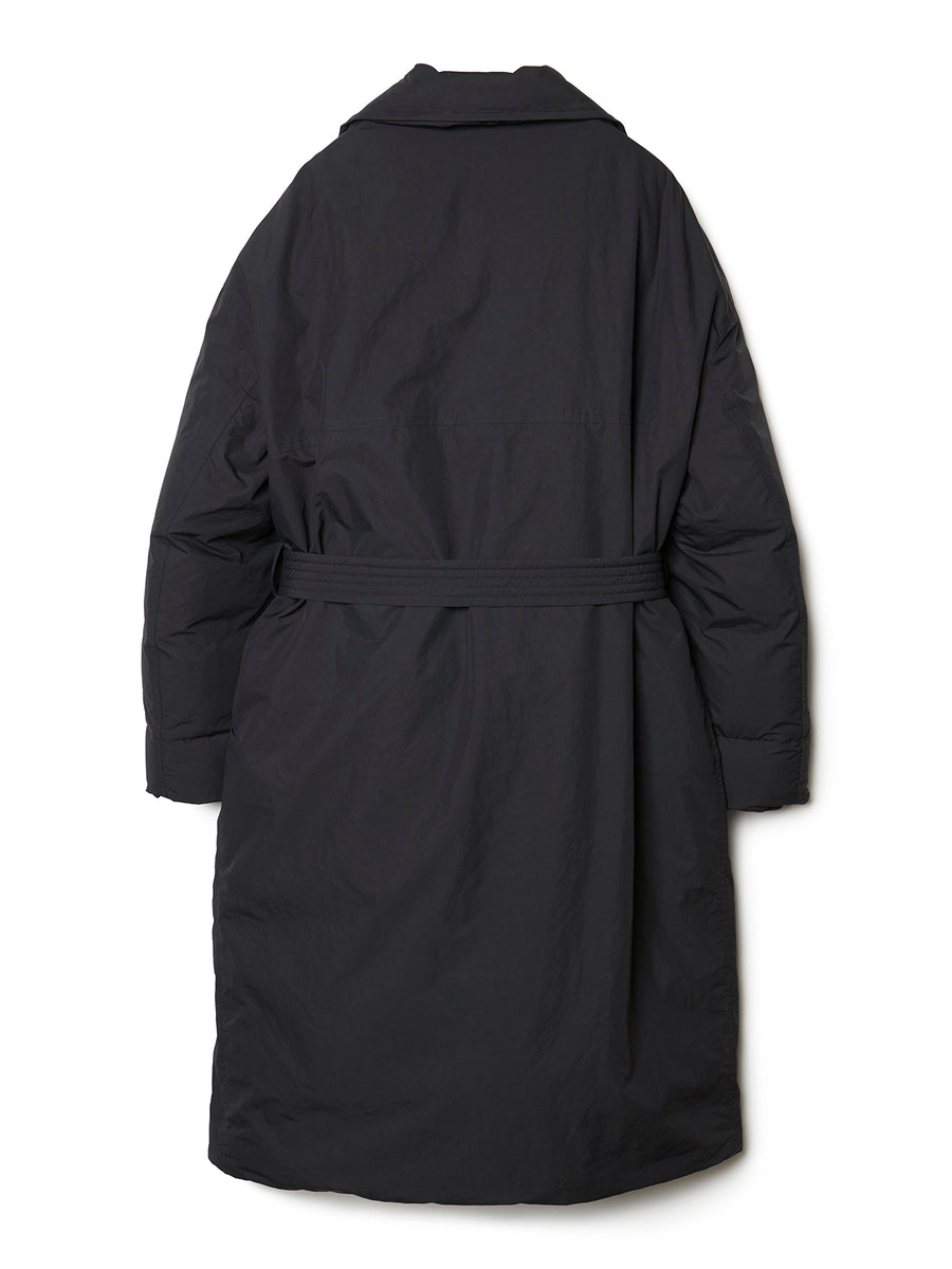 Down Trench Coat BLK