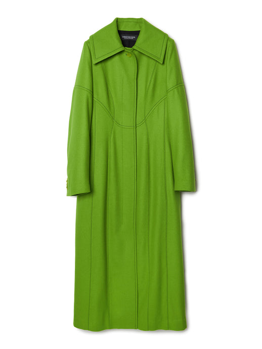 Soutien Collar Paneled Long Coat LIM