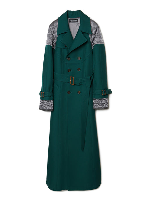 Combined Quilted Trench Coat GRN