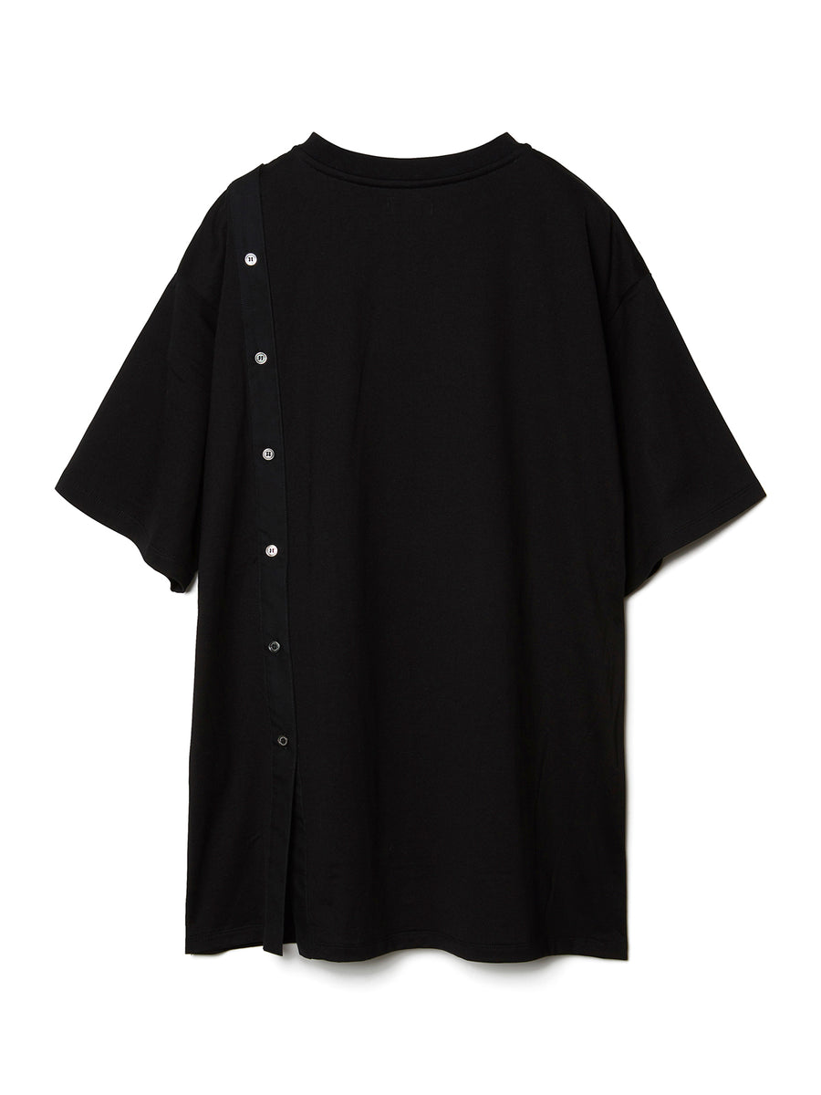 Combined Graphic Print Shirt BLK