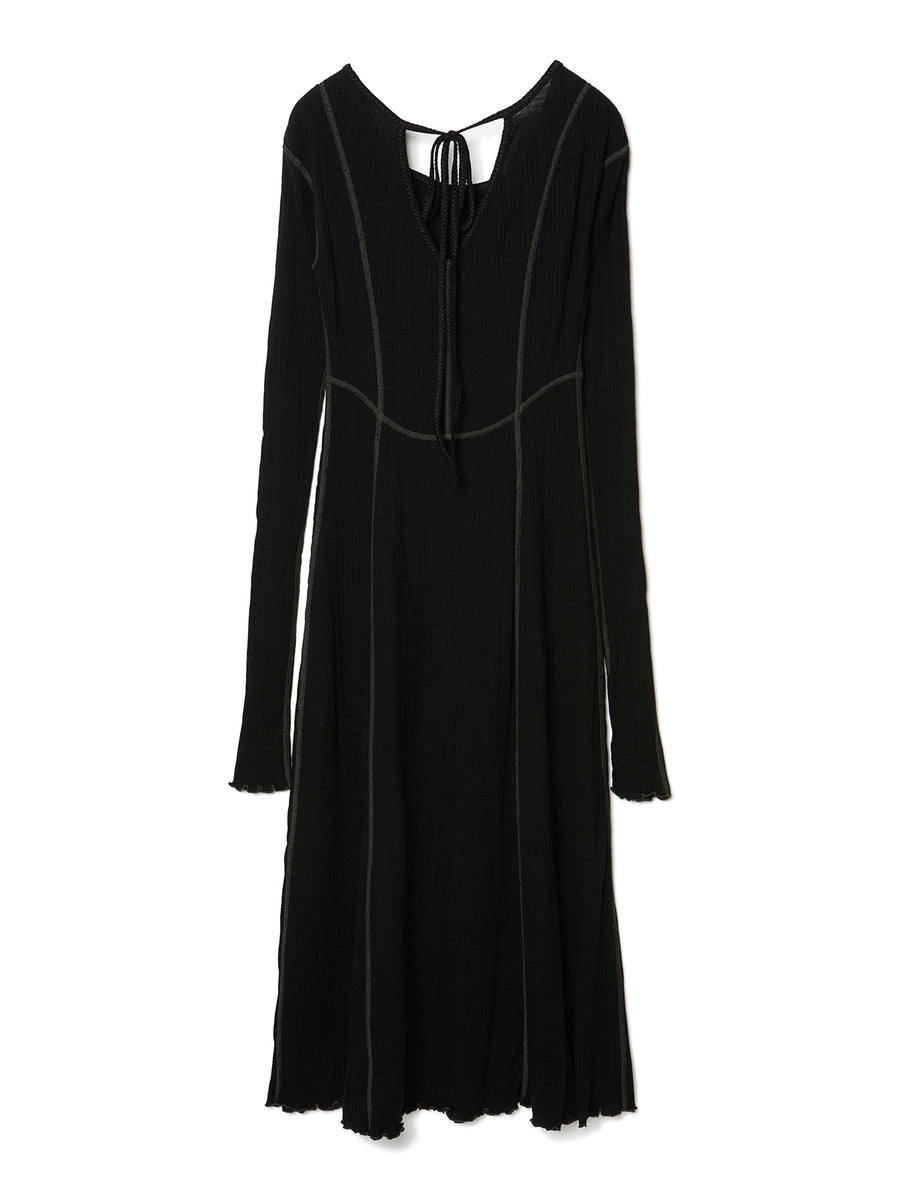 Ribbed Jersey Dress BLK