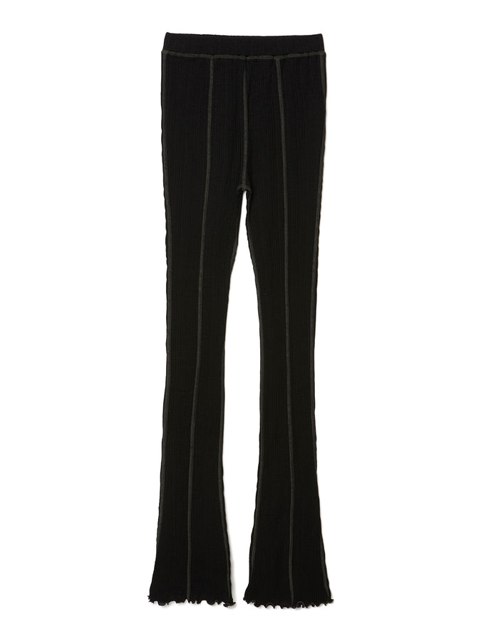 Ribbed Jersey Leggings BLK