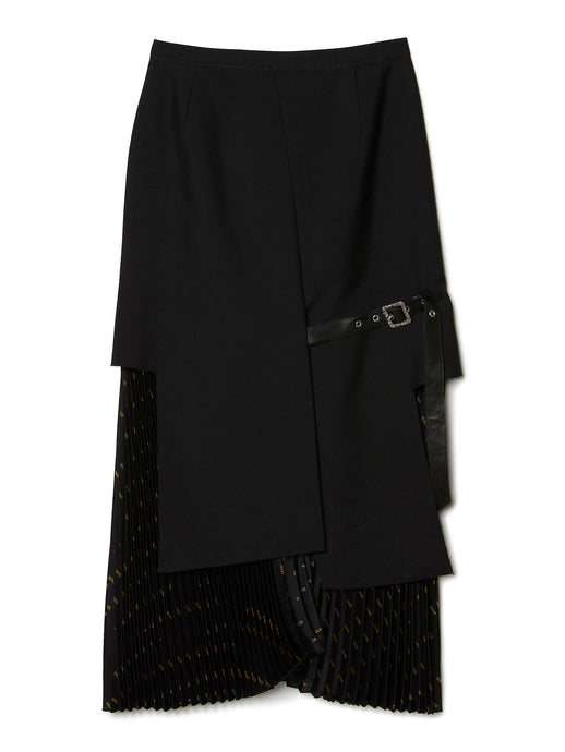 Signature Combined Pleated Skirt BLK