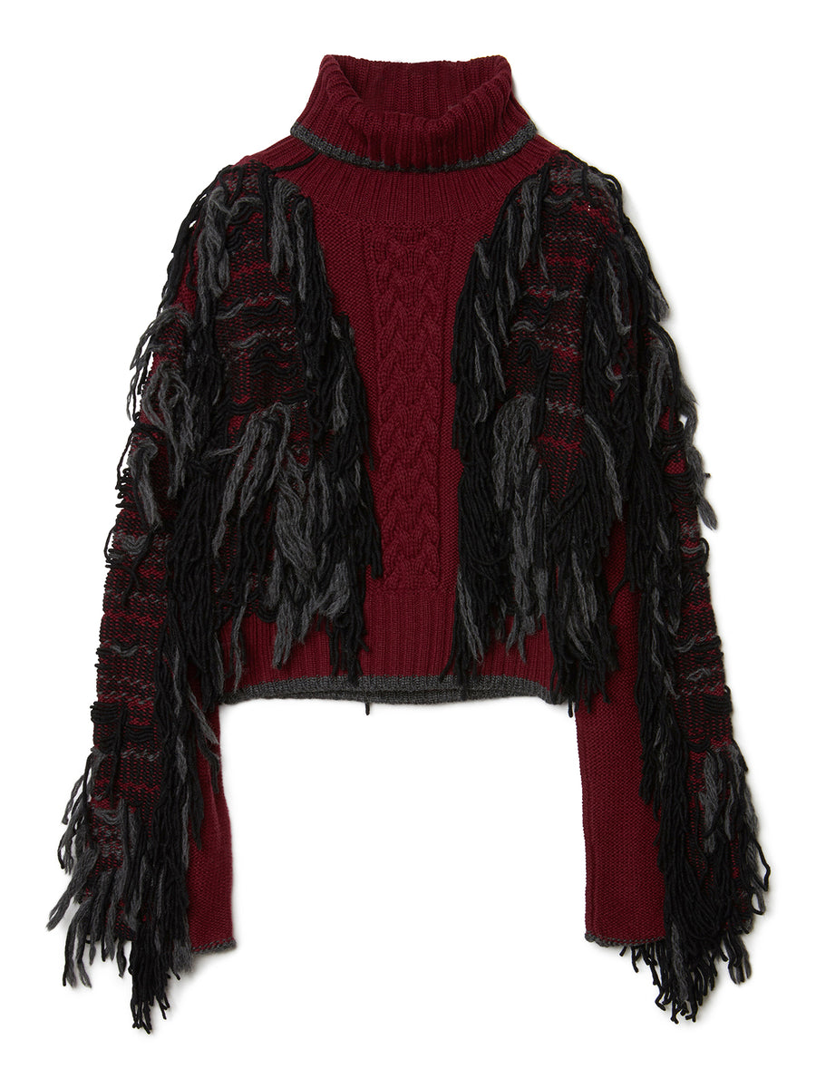 Fringe Knit Sweater BRD