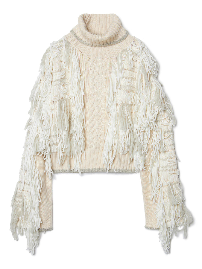 Fringe Knit Sweater OFF
