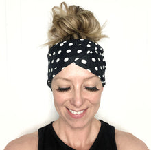 Load image into Gallery viewer, Polka Dot Tri-Fold Twisty Headband