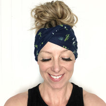 Load image into Gallery viewer, Cactus Lovers Tri-Fold Twisty Headband