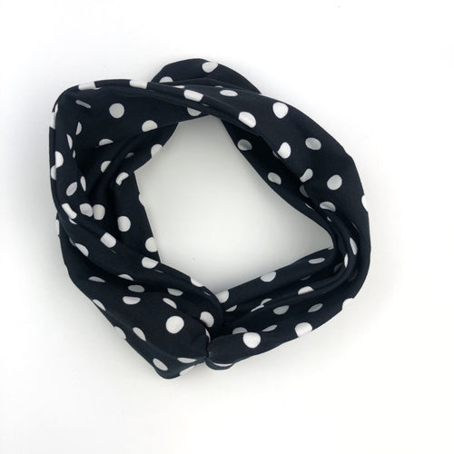 Polka Dot Tri-Fold Twisty Headband