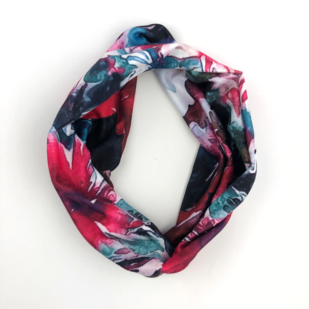 Watercolor Tri-Fold Twisty Headband