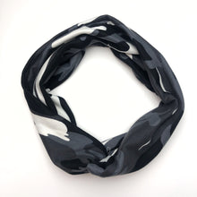 Load image into Gallery viewer, Black & White Camo Tri-Fold Twisty Headband