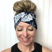 Load image into Gallery viewer, double brushed poly non slip workout twisty headband