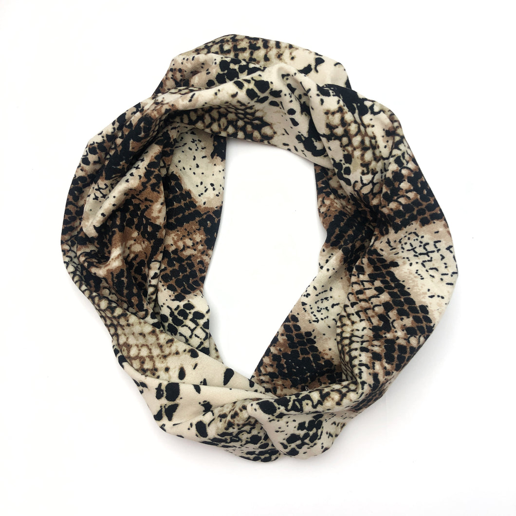 Snakeskin TriFold Twisty Headband