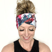 Load image into Gallery viewer, Watercolor Tri-Fold Twisty Headband
