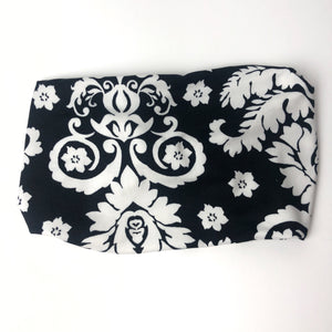 White on Black TriFold Twisty Headbaned