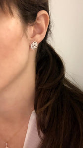 Diamond Rose Earrings