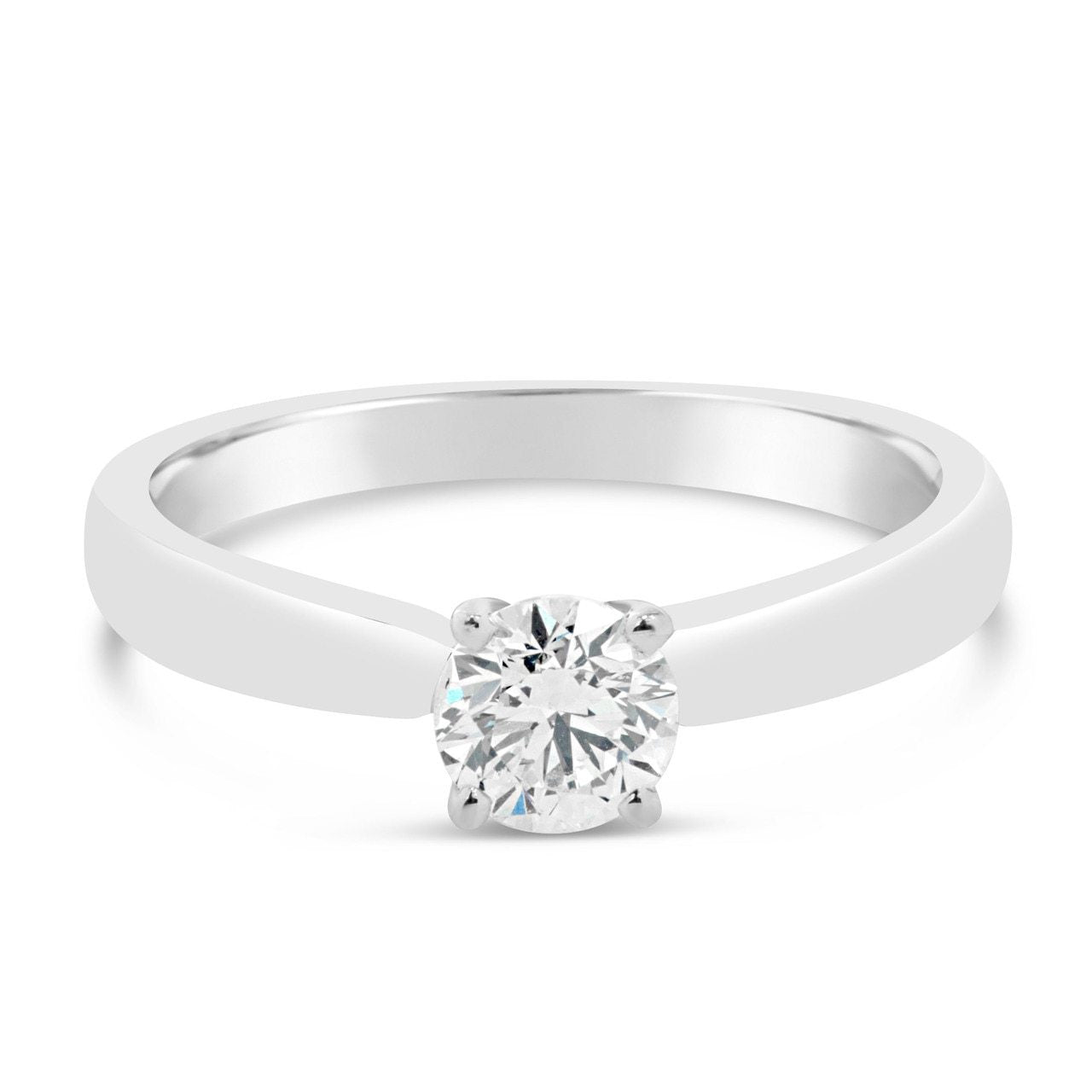 White Gold Round Cut Diamond Engagement Ring
